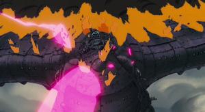 映画『風の谷のナウシカ』でアスベルがナウシカを機関銃で撃つシーン