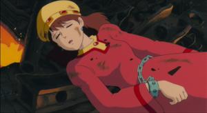 墜落したトルメキアの船の中に発見されたペジテの王妃ラステル