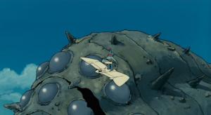 映画『風の谷のナウシカ』でナウシカが王蟲を静めるシーン